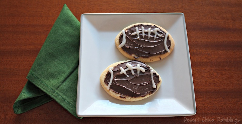 Easy Football Cookies for Superbowl