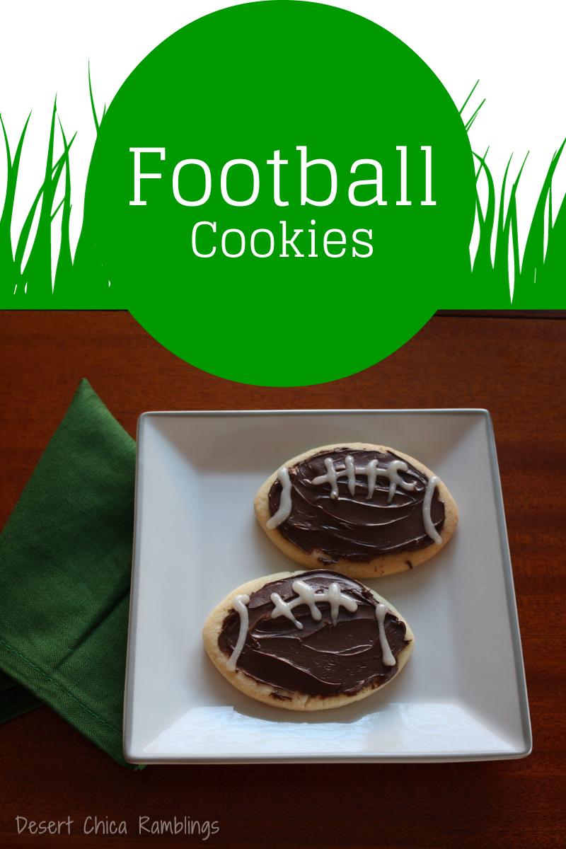 Easy Football Cookies