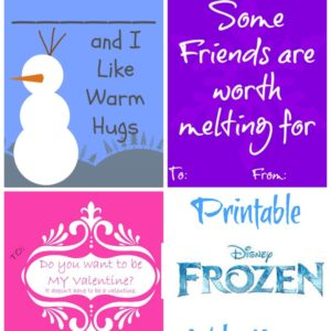 Frozen Disney Printable Valentines