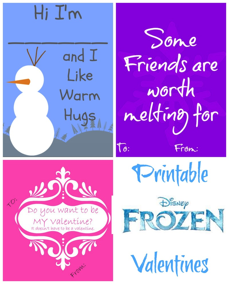 Frozen Disney Printable Valentines