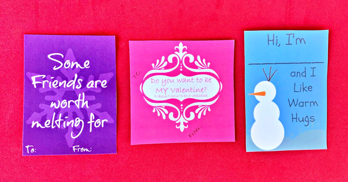 Frozen Valentines Free Printable Cards