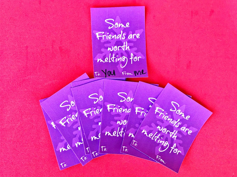 Some Friends are worth melting for Disney Frozen Valentines Printables