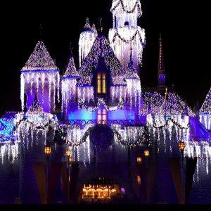 Sleeping Beauty Castle Snow Overlay