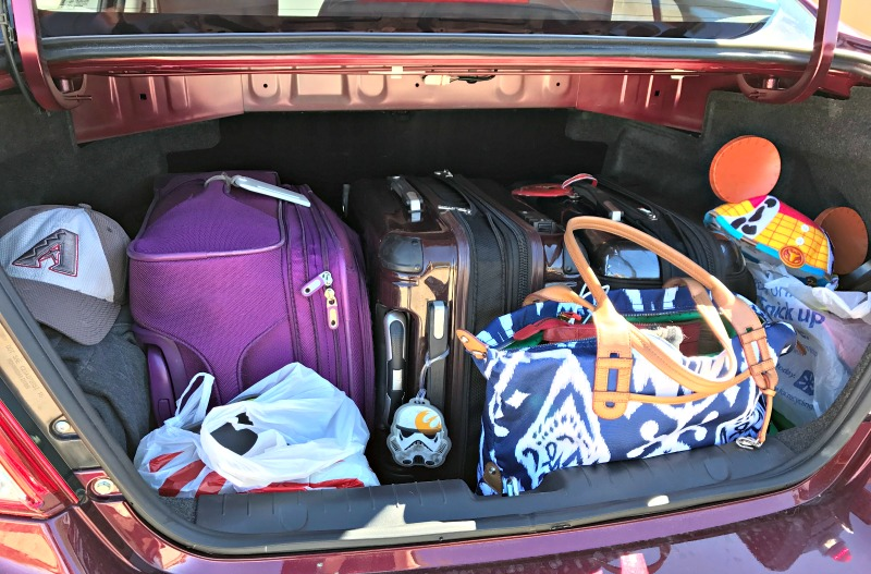 A tucson to Disneyland road trip means less constraints on luggage and food brought with you over rodeo break