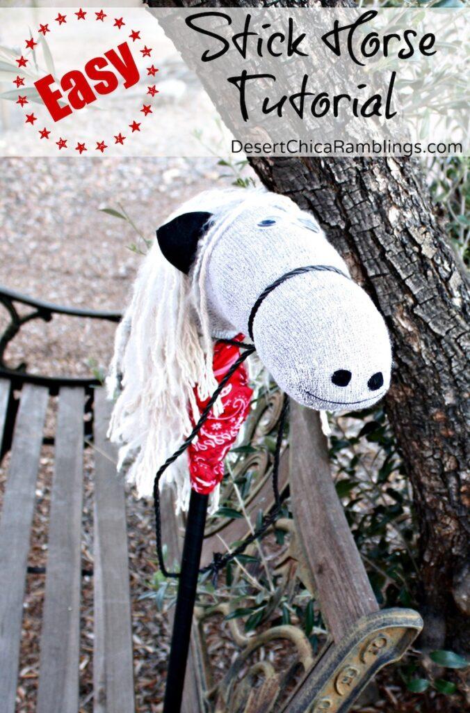 Easy Stick Horse Tutorial Desert Chica