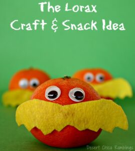 Lorax Craft and snack idea