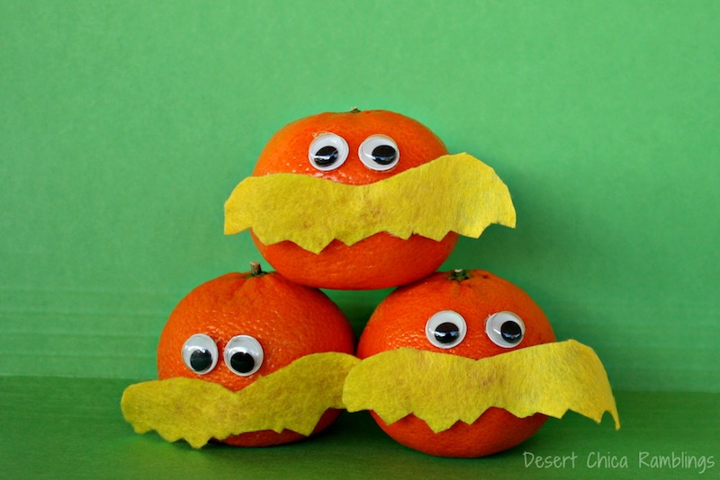 Lorax Craft and snack from oranges