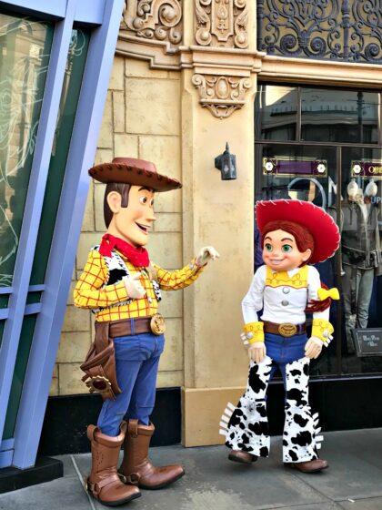 Meet Jessie and Woody at Disney California Adventure during Rodeo Break