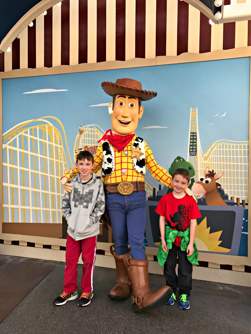 Meet Woody on Pixar Pier at Disney California Adventure during Rodeo Break