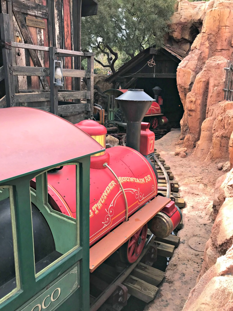 Ride Big Thunder Mountain Railroad at Disneyland during Rodeo Break