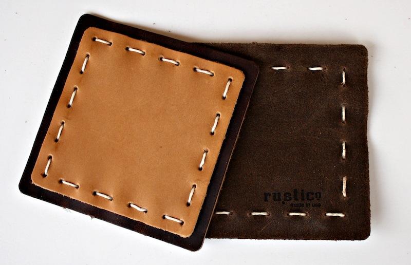 Rustico leather coasters