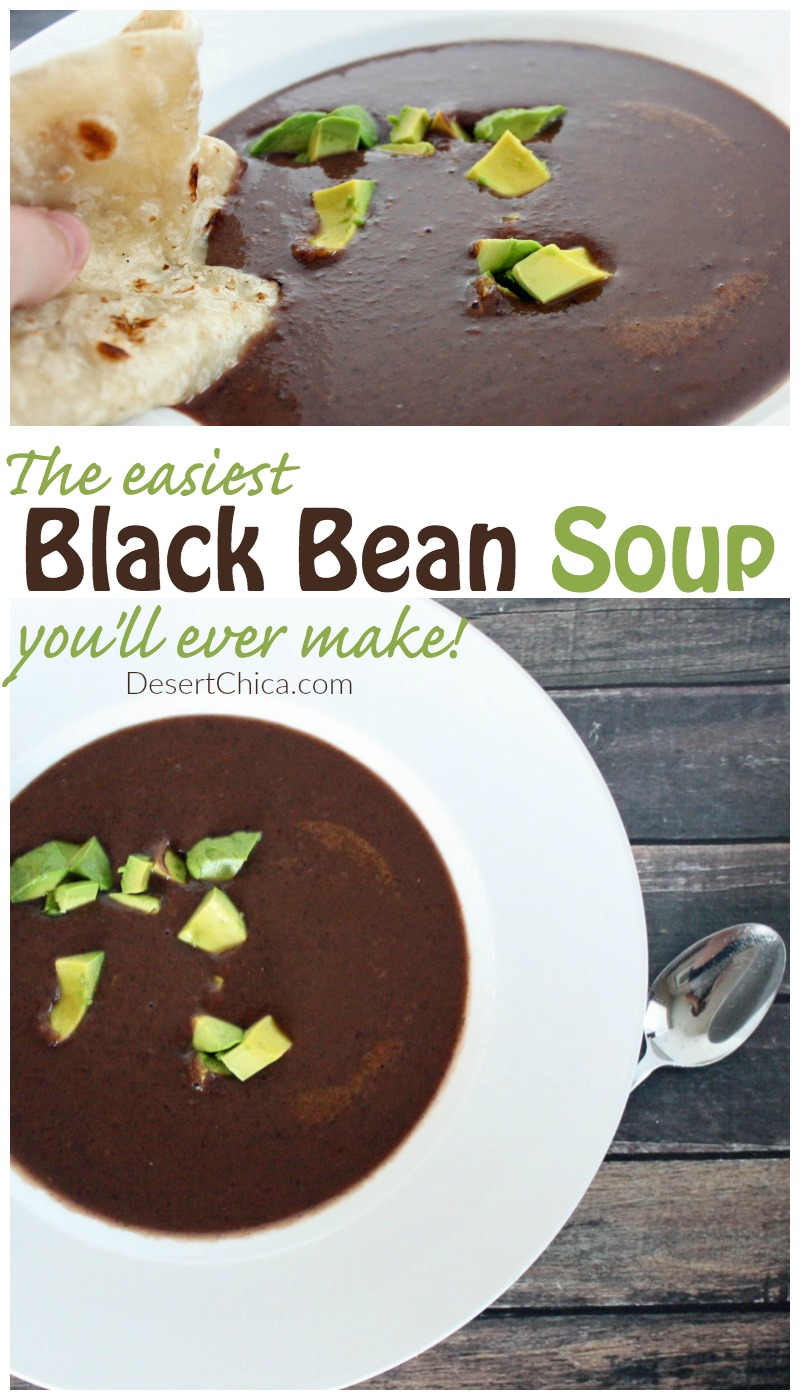 Easy Black Bean Soup | Desert Chica