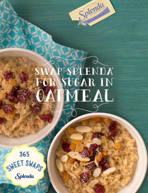 Splenda in Oatmeal #SweetSwaps