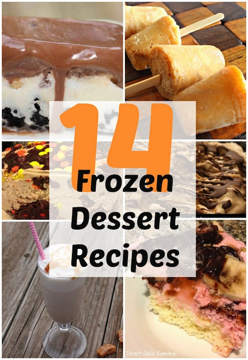 Baby, it's HOT outside, check out these great frozen dessert recipes. They are a sweet way to cool down right now!