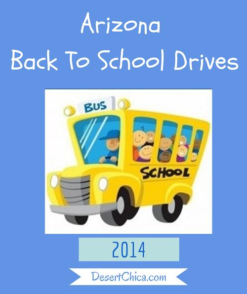 Arizona Back To School Drives 2014