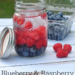 Blueberry and Raspberry infused water recipe jpg