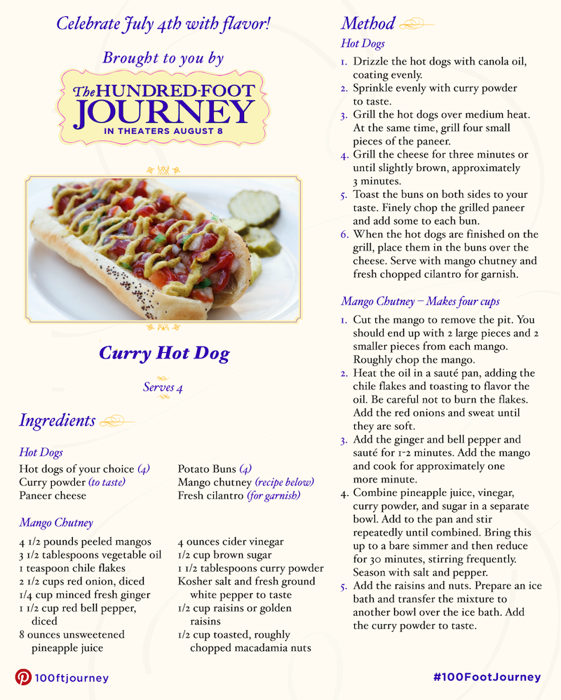 Tasty BBQ Recipes Curry Hot Dog