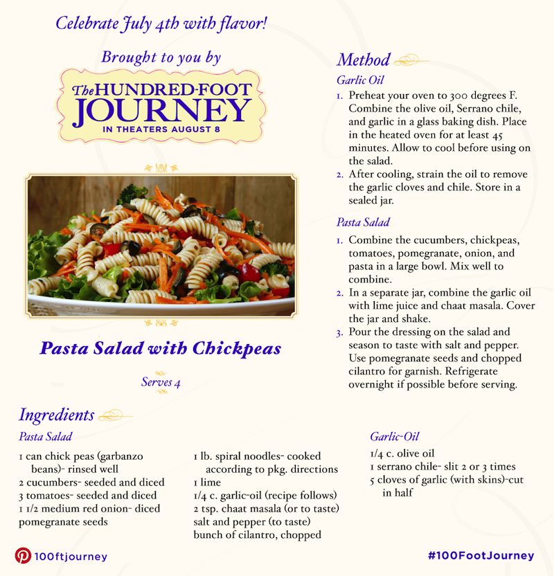 Tasty BBQ Recipes pasta salad with chickpeas