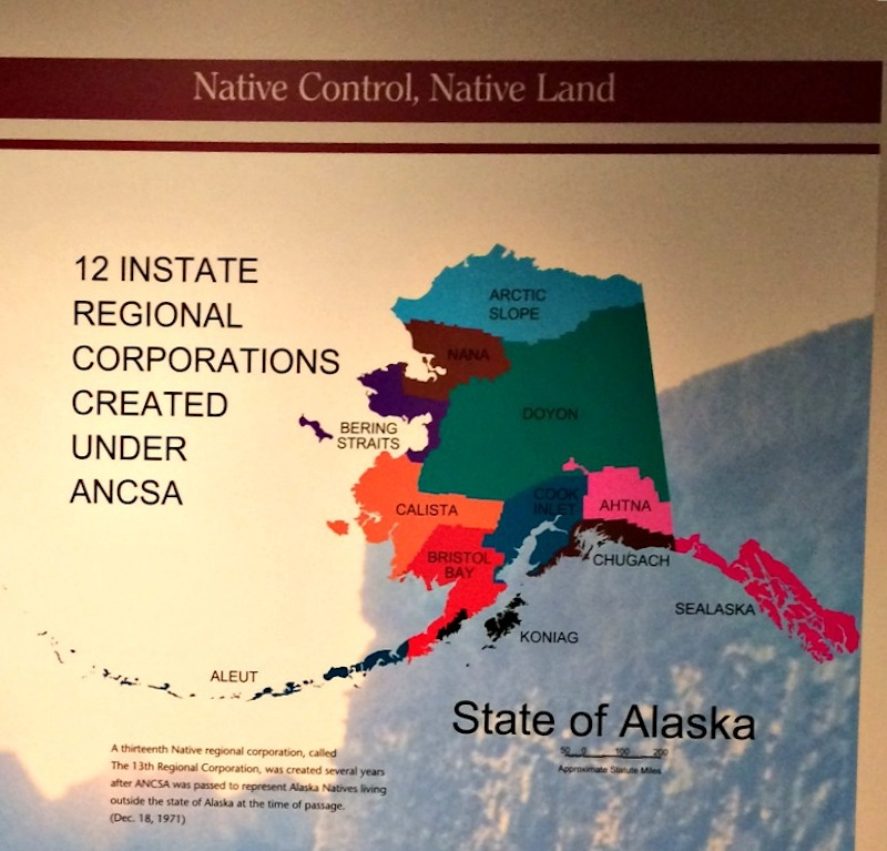 13 native corporations at the anchorage museum