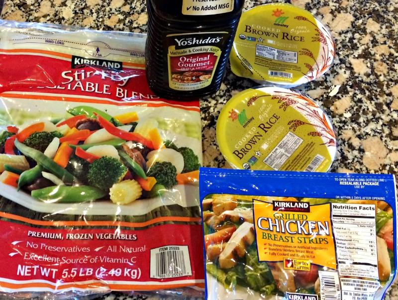 Costco Stir Fry ingredients