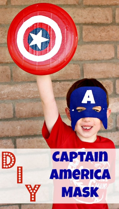 picture relating to Captain America Mask Printable called Do it yourself Captain The usa Mask Desert Chica