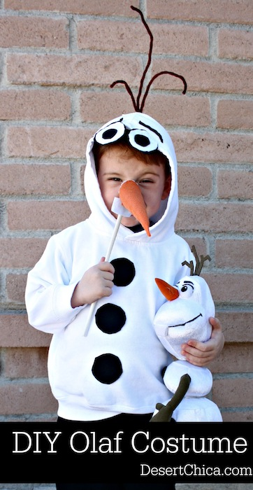 Diy olaf costume desert chica how to make an easy olaf costume from a sweatshirt perfect for your little frozen pronofoot35fo Gallery