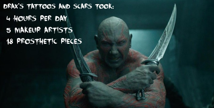 Drax Makeup: Guardians of the Galaxy Facts