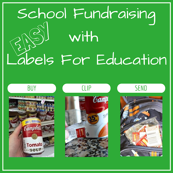 Easy School Fundraising with Labels for Education #Shop
