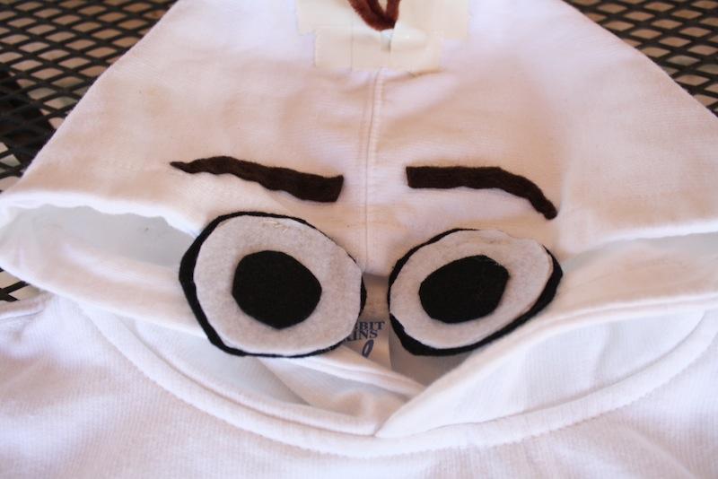 Olaf Costume Eyes