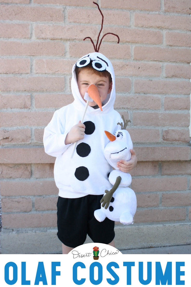 Who's ready for the return of Anna, Elsa and their favorite Snowman buddy Olaf in Frozen 2? This easy DIY Olaf costume is perfect for anyone that prefers homemade costumes or like to save money. It can be downsized for a baby or upsizes for teens or adults. Both boys and girls can wear this snowman costume. Add a tutu dress if you want a fancier costume. This tutorial explains how to make an Olaf costume using a white hoodie and includes a template for Olaf's face. #Frozen #FrozenCostume #FrozenParty #FrozenBirthday Disney Costumes | DIY Snowman Costume | Halloween Costumes for Girls | Halloween Costumes for Boys