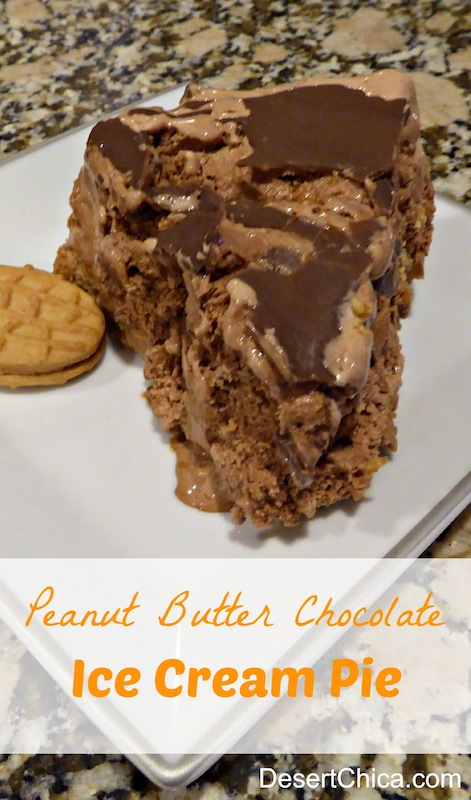 Peanut Butter Chocolate Ice Cream Pie