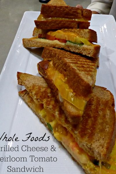 Whole Foods Grilled Cheese and Heirloom Tomato Sandwich