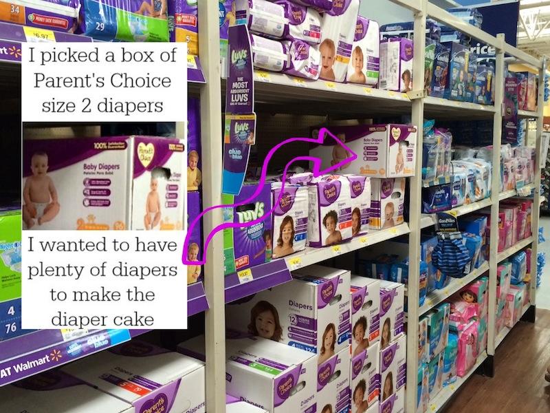 parents Choice baby diapers unique diaper cake #shop