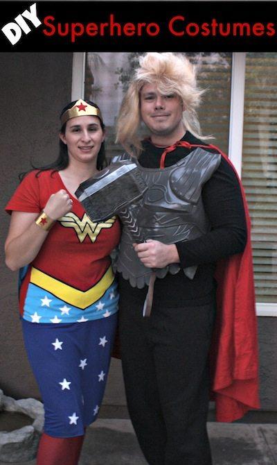 DIY Superhero Costumes  sc 1 st  Desert Chica & DIY Super Hero Costumes: Wonder Woman and Thor | Desert Chica