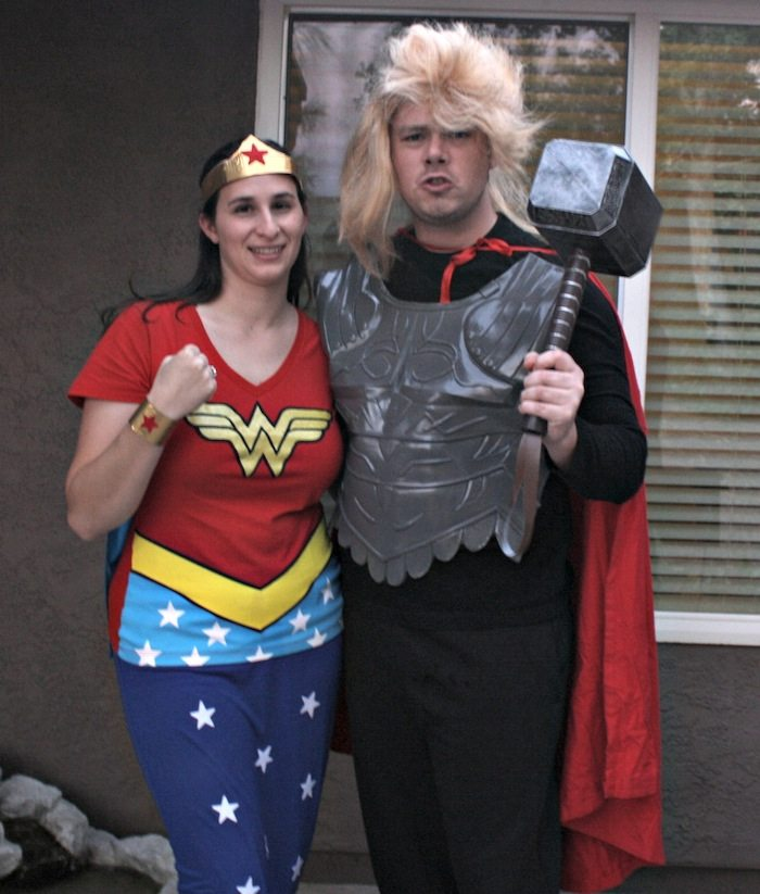 DIY Thor DIY Wonder Woman Costume  sc 1 st  Desert Chica & DIY Super Hero Costumes: Wonder Woman and Thor | Desert Chica