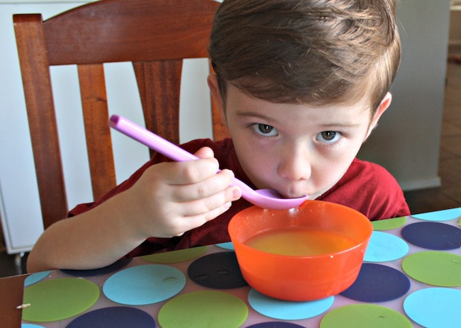 Cold and Flu Tips for parents Chicken Noodle Soup for hydration