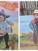Cowboy and Cowgirl Blazin' M Ranch