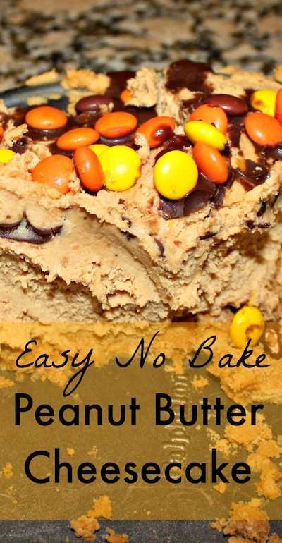 Easy No Bake Peanut Butter Cheesecake