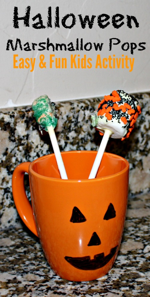 Easy and Fun Halloween Marshmallow Pops