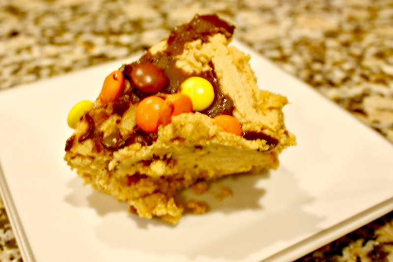 Peanut Butter Cheese Cake with Reese's Pieces