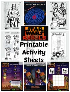 Star Wars Rebels Printable Activity Sheets