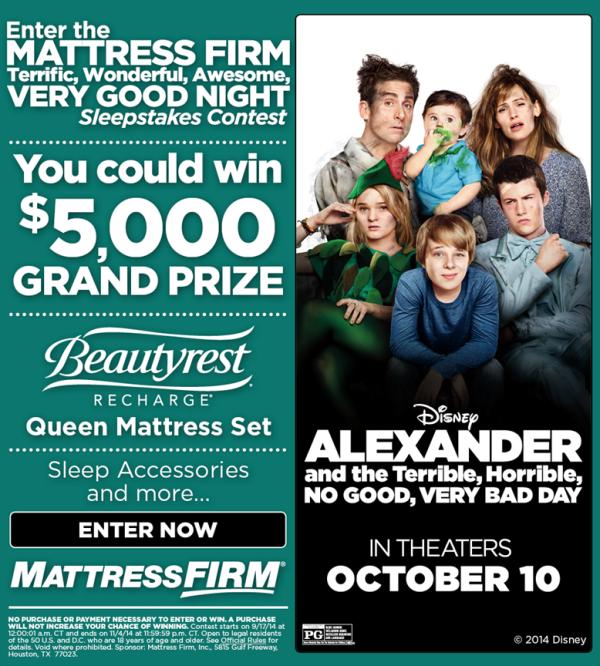 mattress firm Alexander Giveaway