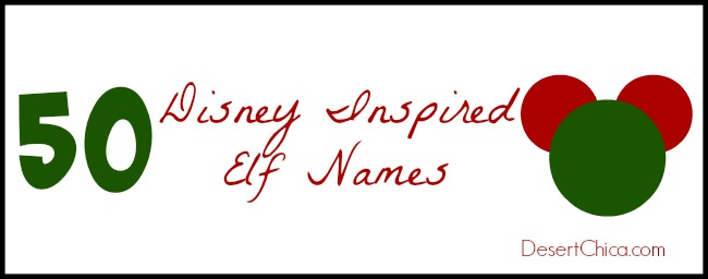 50 Disney Inspired Elf Names