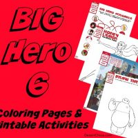 Big Hero 6 Printable Coloring Pages and Activities