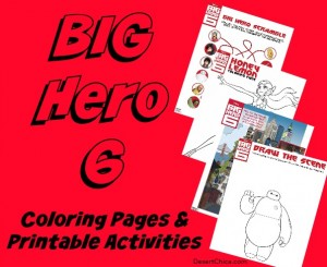 Big Hero 6 Coloring Pages and Printable Activities