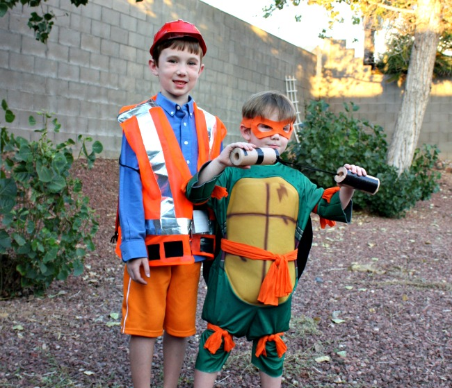 Emmet and Michaelangelo Costumes