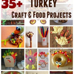 Thanksgiving Turkey Food and Craft Projects