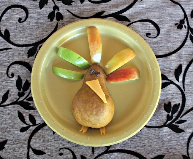 Thanksgiving fruit turkey danjou pear