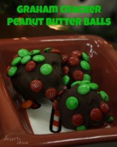 Easy Christmas Graham Cracker Peanut Butter Balls