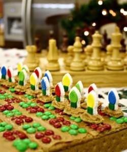 Fun Holiday Baking: Graham Cracker Chess Set and Peanut Butter Graham Cracker Balls